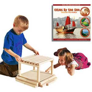 Block City Wooden Building Block Set