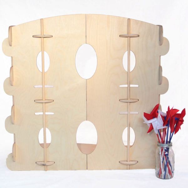 Wooden Scalloped Children's Bookshelf