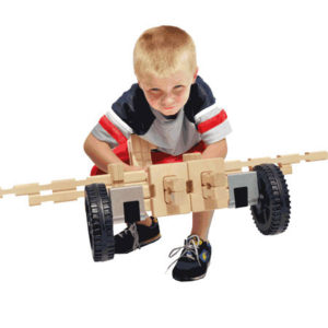 Wooden Airplane Wheeled Vehicle Toy Set